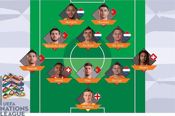 سيطر لاعبو البرتغال وهولندا على التشكيلة المثالية لمسابقة دوري الأمم الأوروبية في نسختها الأولى