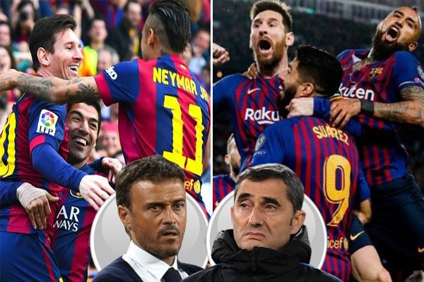 برشلونة حقق رصيداً تهديفياً تحت إشراف انريكي بالمقارنة مع فالفيردي