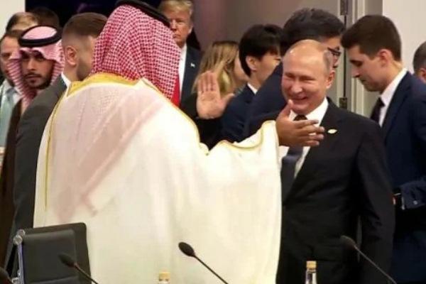 ولي العهد السعودي مع الرئيس الروسي