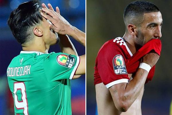 نجا المهاجم الجزائري بغداد بونجاح من السيناريو الذي تعرض له حكيم زياش مع منتخب المغرب