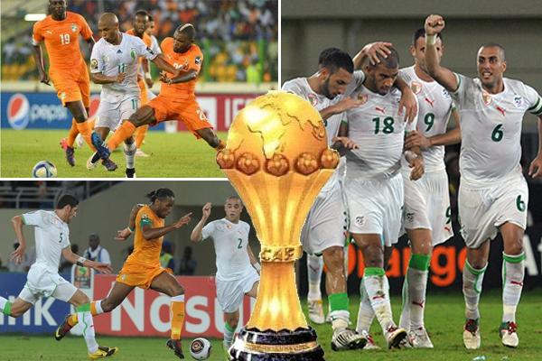 المنتخبان الجزائري و العاجي قد سبق لهما ان تواجها سبع مرات في البطولة الإفريقية