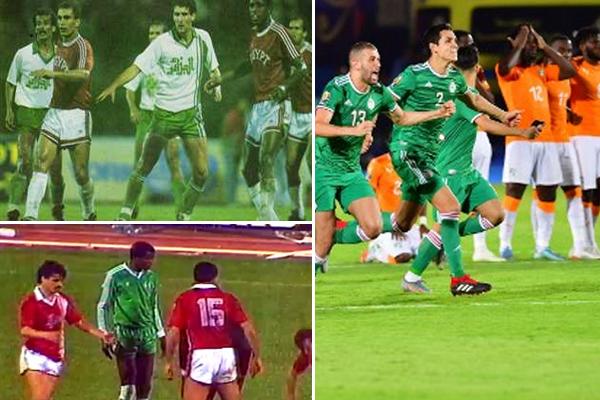 الجزائريون قد لجأوا إلى ركلات الترجيح اربع مرات خلال تاريخ مشاركاتهم ببطولة كأس أمم إفريقيا