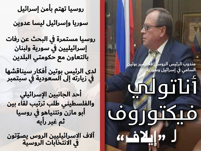 إيلاف تحاور السفير الروسي أناتولي فيكتوروف