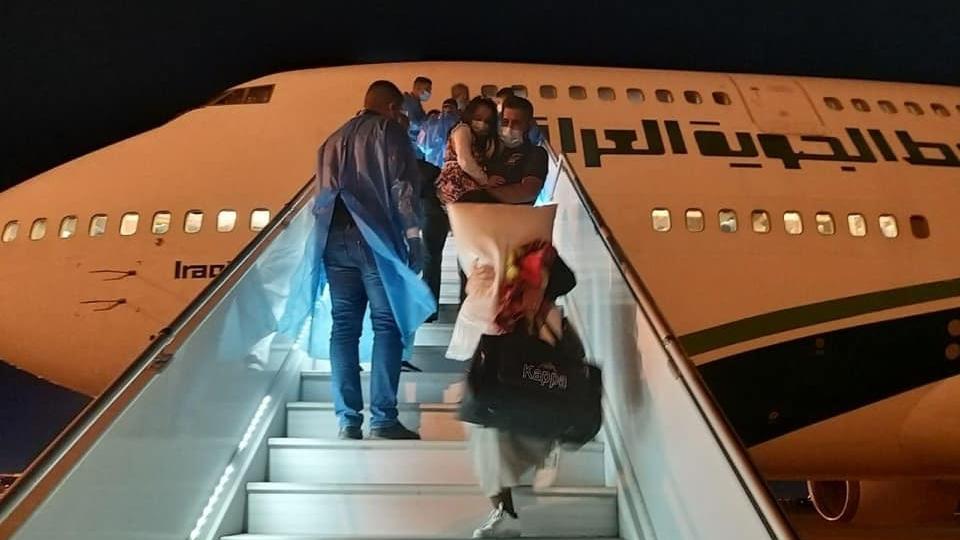 اجلاء اول مجموعة من العراقيين في الهند ووصولها الى بغداد