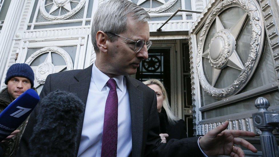 موسكو استدعت السفير البريطاني لديها