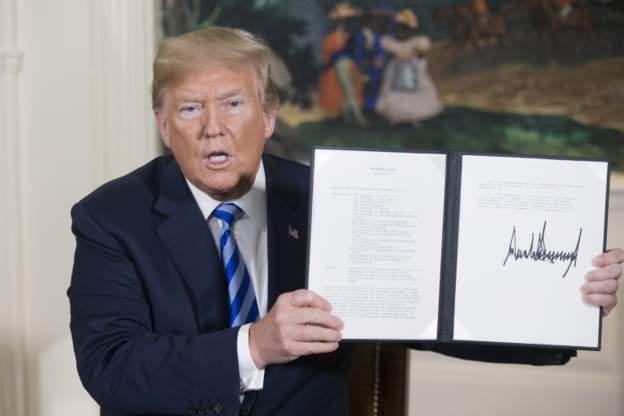 ترامب: شيء ما سيحدث ما لم تقبل إيران إعادة التفاوض بشأن الاتفاق النووي