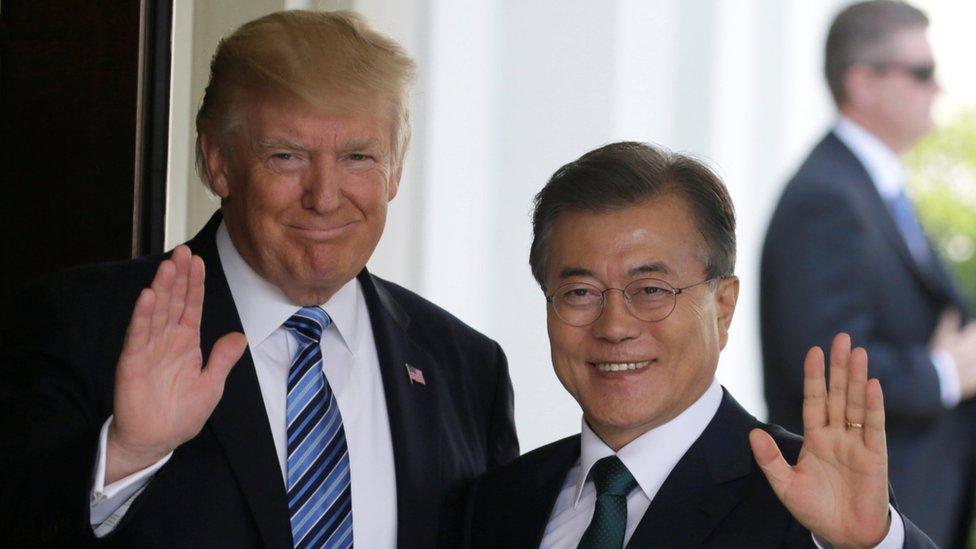 الرئيس الأمريكي استقبل في واشنطن نظيره الكوري الجنوبي