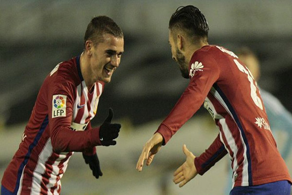ضمن كاراسكو وغريزمان الفوز لاتليتكو مدريد