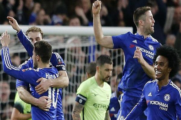 سحق فريق تشيلسي خصمه مانشستر سيتي بخمسة أهداف مقابل هدف وحيد