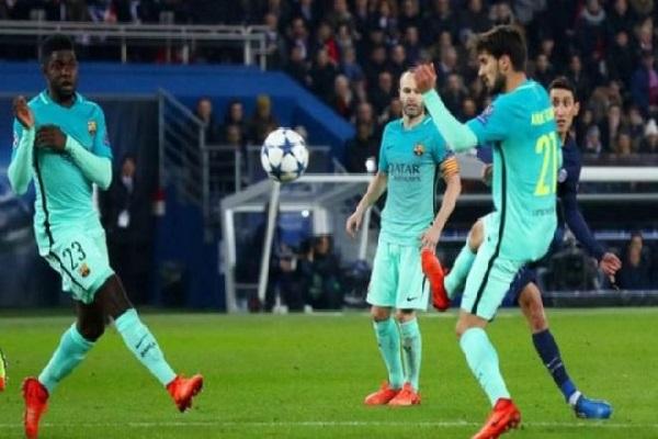 دي ماريا سجل هدفين في مباراة برشلونة ليرفع رصيده في دوري الأبطال إلى ثمانية أهداف