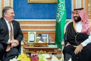 الأمير محمد بن سلمان مستقبلا بومبيو في الرياض