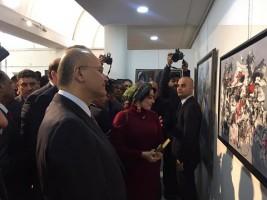 في بغداد معرض تشكيلي يفتتحه رئيس عراقي لاول مرة!