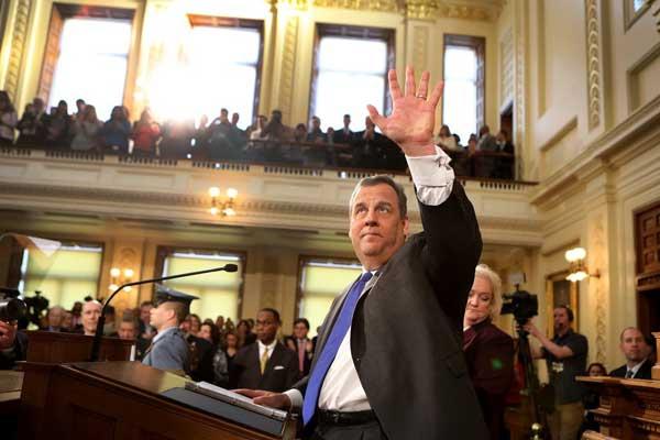 كريس كريستي في يناير 2018، حيث قام بإلقاء الخطاب الأخير عن الأمة كحاكم ولاية نيو جيرسي