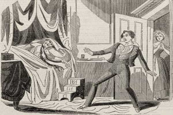 لوحة تصوّر لحظة العثور على اللورد ويليام راسل مقتولًا في سريره
