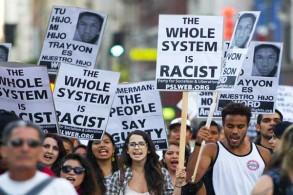 تظاهرة ضد العنصرية في أميركا