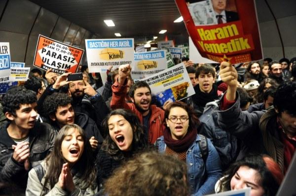 تظاهرة ضد الفساد في تركيا