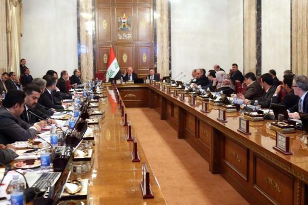 الحكومة العراقية خلال اجتماعها برئاسة العبادي
