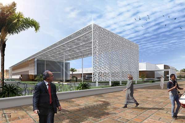 تصميم ومجسمات لمشروع مركز الأنشطة التكنولوجية