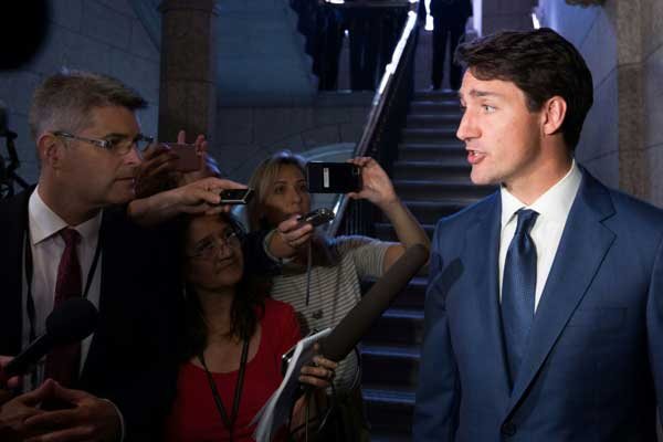 رئيس الوزراء الكندي بتاريخ 17 سبتمبر 2018 في أوتاوا