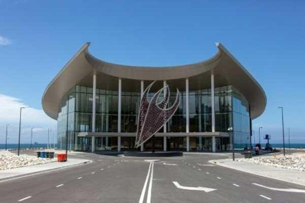 مركز المحاضرات الذي عقد فيه اجتماع وزراء مالية آبيك في بورت مورسبي عاصمة بابوا غينيا الجديدة، في صورة تعود إلى 10 سبتمبر 2018