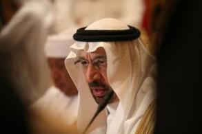 وزير الطاقة السعودي خالد الفالح خلال اللقاء الوزاري في أبوظبي