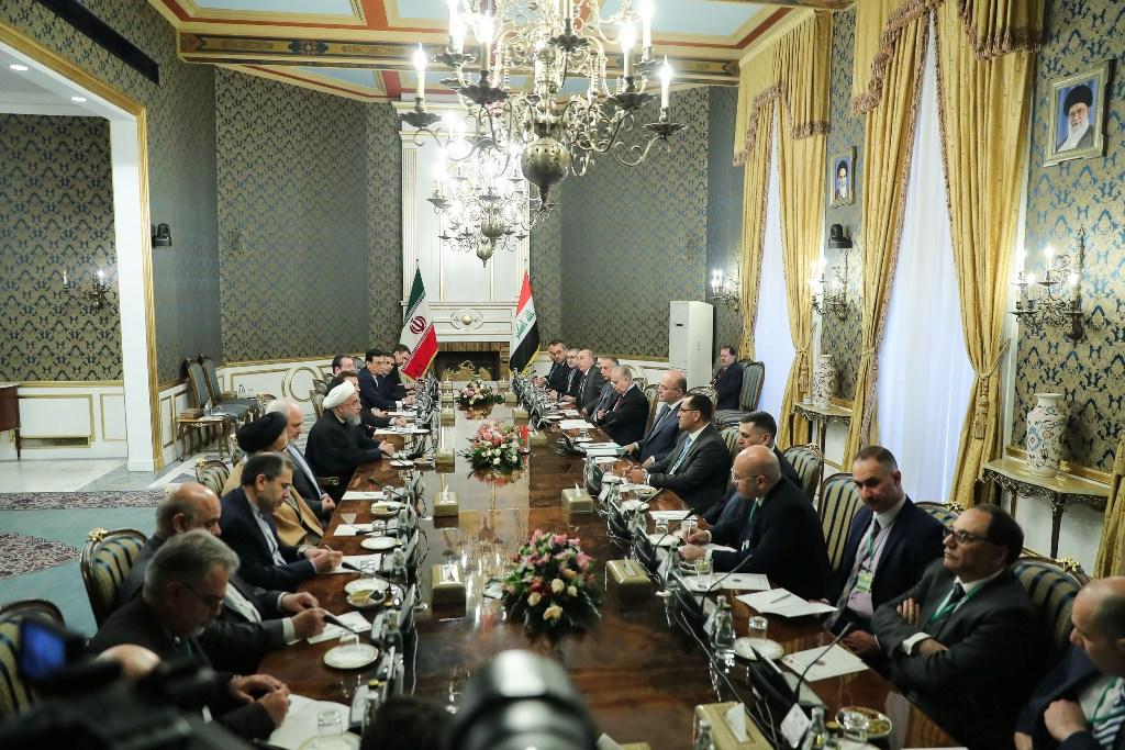 المباحثات العراقية الايرانية في طهران برئاسة الرئيسين صالح وروحاني