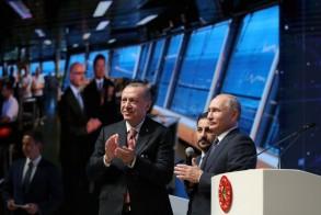 الرئيسان التركي رجب طيب اردوغان والروسي فلاديمير بوتين