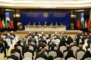 روحاني خلال المؤتمر الذي يعقد اليوم في طهران