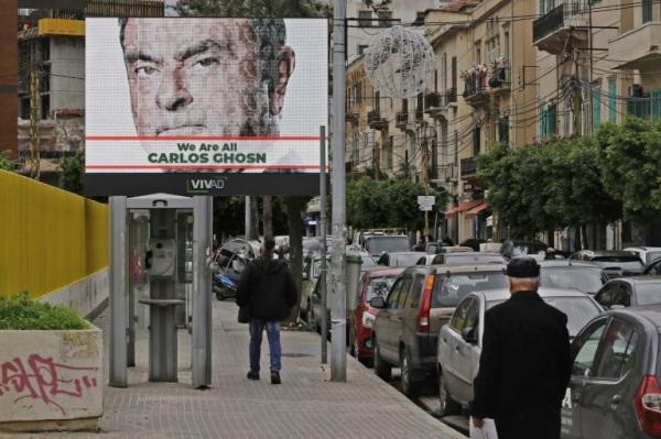 صور لرجل الأعمال الفرنسي البرازيلي من أصل لبناني كارلوس غصن في بيروت