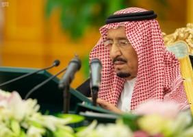 العاهل السعودي خلال ترؤسه مجلس الوزراء يوم الثلاثاء - واس
