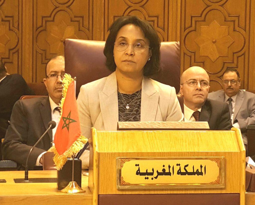 منية بوستة كاتبة الدولة لدى وزير الشؤون الخارجية والتعاون الدولي بالمغرب