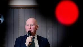 مدير عام مصرف بي ان بي باريبا فورتيس ماكس جادو اثناء عرض النتائج السنوية للبنك في بروكسل في 15 اذار/مارس 2019 بلجا/اف ب/ارشيف