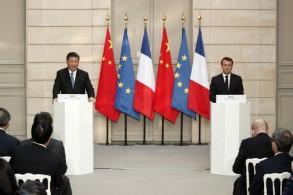 مؤتمر صحافي مشترك للرئيسين الفرنسي والصين في باريس