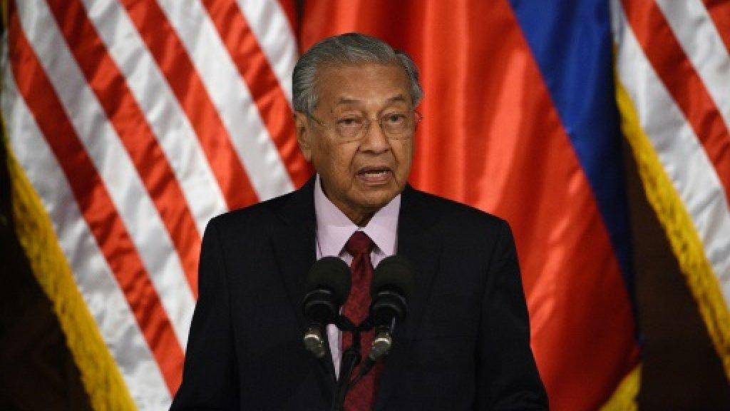 رئيس الوزراء الماليزي مهاتير محمد خلال مؤتمر صحافي في مانيلا بتاريخ 7 آذار/مارس 2019 ا ف ب/ارشيف
