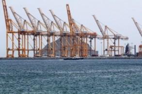 صورة لميناء في إمارة الفجيرة في 13 مايو 2019