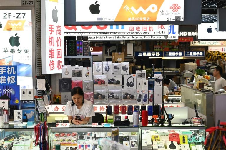 متجر للهواتف في شانغهاي