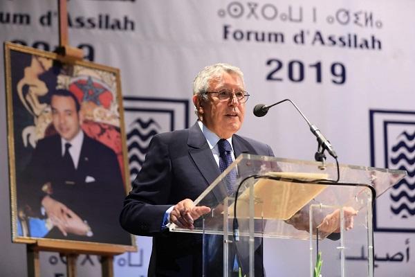 محمد بن عيسى يتحدث في الجلسة الافتتاحية لمنتدى اصيلة 41