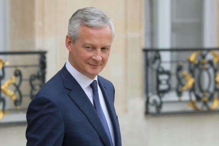 وزير الاقتصاد والمالية الفرنسي برونو لومير في قصر الاليزيه بباريس، 12 حزيران/يونيو 2019