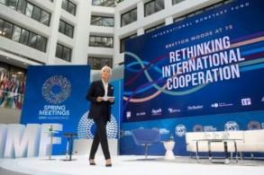 المديرة العامة لصندوق النقد الدولي كريستين لاغارد منذ 2011، في صورة التقطت في أبريل 2019