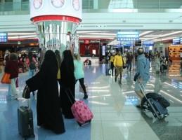احدى صالات مطار دبي
