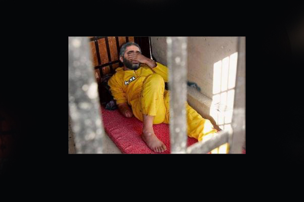 الصورة التي نشرتها قناة الميادين لفضل وتقول أنها في مقرّ اعتقاله