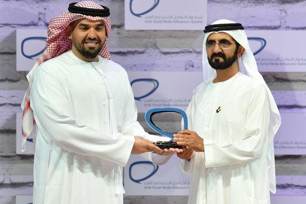 حاكم دبي يُكرّم حسين الجسمي