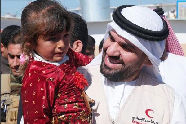 حسين الجسمي يفتتح الجزء الثالث من مخيم النازحين في أربيل