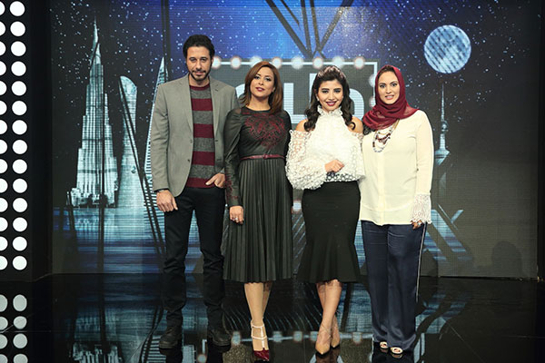 أحمد السعدني وشهد بلان مع مقدمتي برنامج