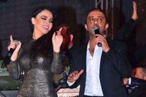 ليال عبود تُشعل حفلها في دمشق بديو مع علي الديك