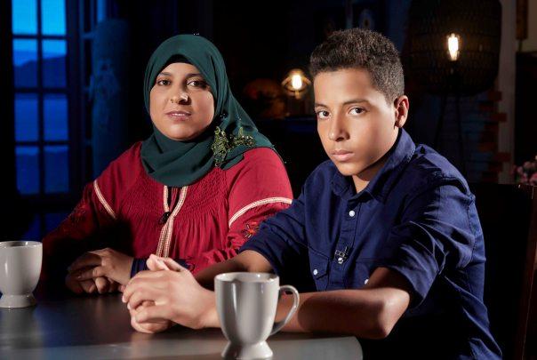 محمد ووالدته