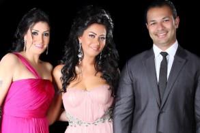 غادة عبد الرازق وابنتها وصهرها