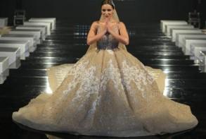 ريم تستعرض بفستان الزفاف