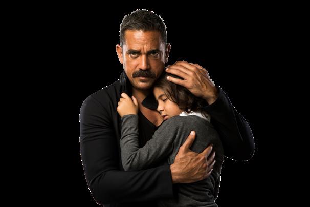أمير كرارة وابنه في المسلسل