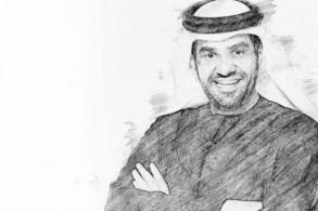 حسين الجسمي مرسوماً على الملصق الدعائي